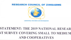 Press Statement on the Research Council of Zimbabwe (RCZ) 2019-07 -08